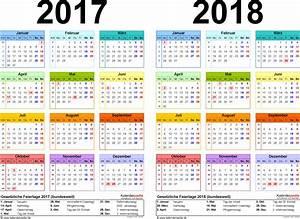 Zweijahreskalender 2017 & 2018 als WordVorlagen zum