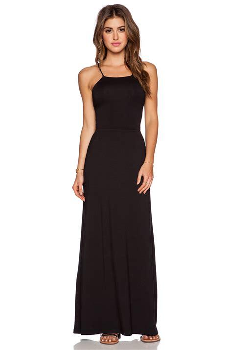zyana dress amour vert zyana jersey maxi dress in black lyst