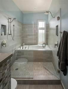 Paroi Vitrée Douche : ameublement de salle de bain rideaux ou parois originaux ~ Zukunftsfamilie.com Idées de Décoration