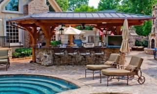 outdoor stone bar ideas landscaping gardening ideas