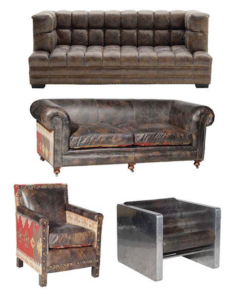 vieux canapé cuir canapés et fauteuils cuir vintage