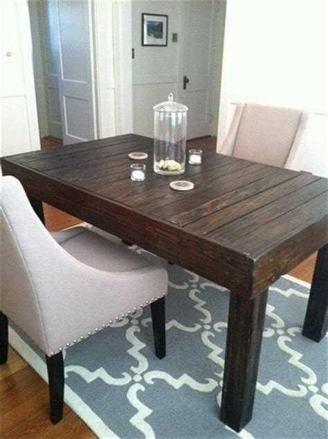 pallet dining room table diy pallet built to last dining table 101 pallets