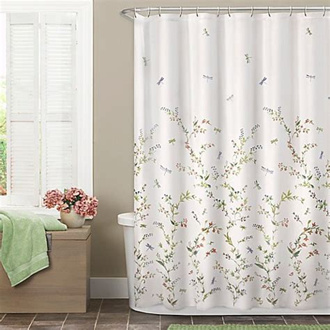 dragonfly garden shower curtain bed bath