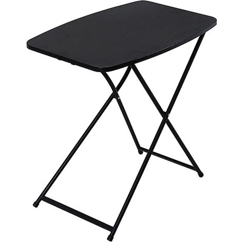mainstays folding game table black mainstays 26 quot personal folding tables set of 4 black
