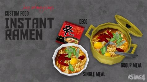 instant ramen  ohmysims  mod  sims sims  updates