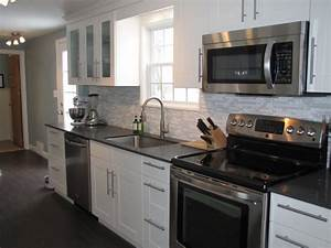kitchen design white cabinets stainless appliances With kitchen colors with white cabinets with metal guitar wall art