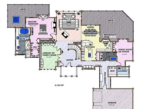 Luxury Log Home Floor Plans