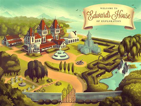 mowrey manor illustration series  behance