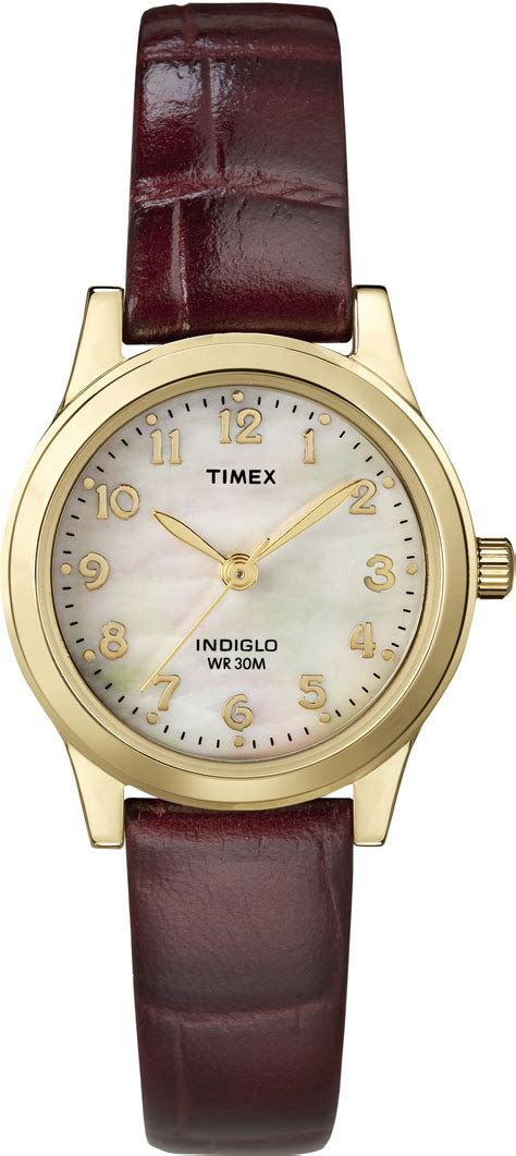 timex womens elevated classics burgundy dress