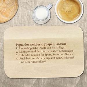 Valentinstag Geschenke Auf Rechnung : fr hst cksbrett mit gravur definition weltbester papa motiv ~ Themetempest.com Abrechnung