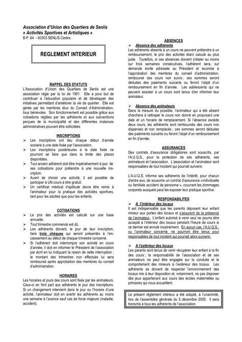 reglement interieur association pdf auqs l association r 232 glement int 233 rieur