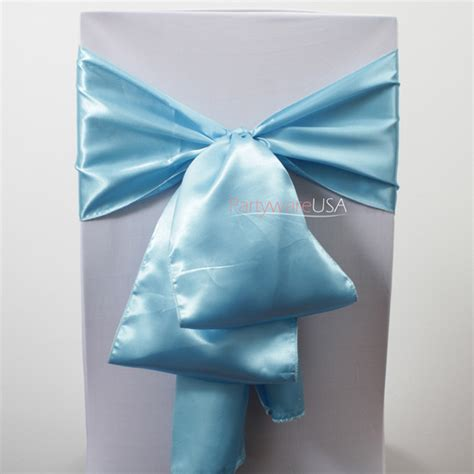 sky blue satin chair sashes 7 day delivery