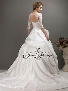 Robe Mariage Dentelle : robe de mariee princesse en taffetas et dentelle avec ~ Mglfilm.com Idées de Décoration