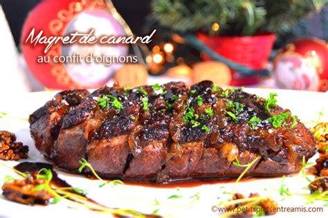 cuisiner du magret de canard magret de canard au confit d 39 oignons petits plats entre