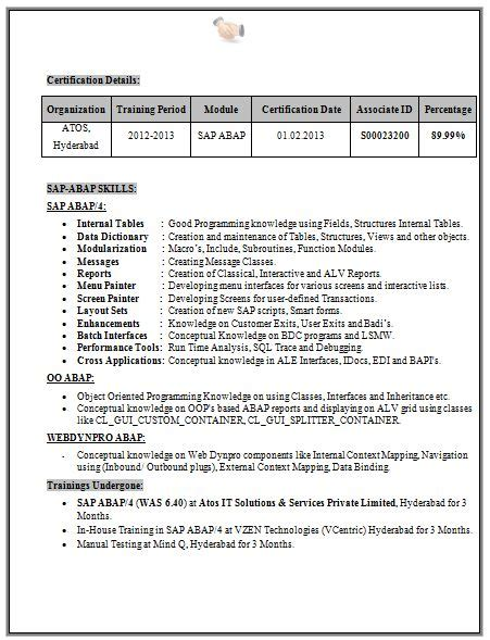 resume format for freshers engineers eee sle resume for freshers eee sle resume
