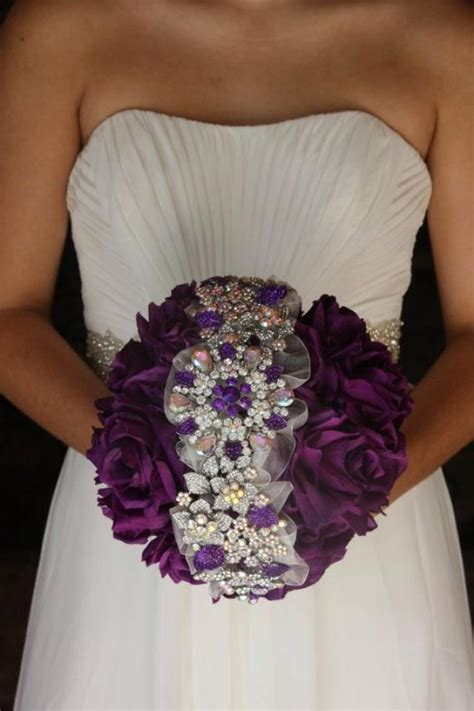 bejeweled bridal bouquets
