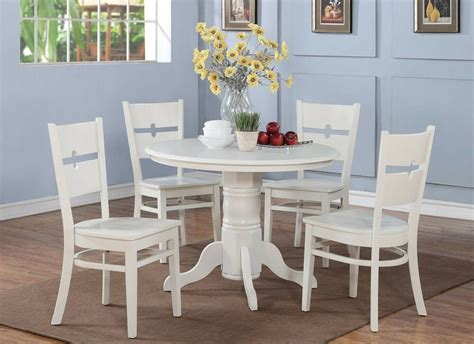 5 pc shelton kitchen table w 4 rockville seat chairs in linen white ebay