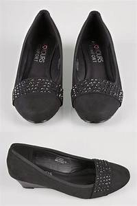 Shoe Width Codes Chart Black Embellished Court Shoes In Eee Fit