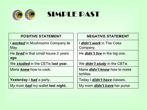 Simple Past Regular Verbs Positive Negative And Questions Exercise  Simple Past Negative And