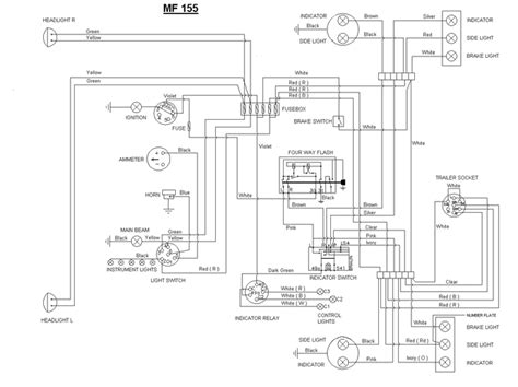wiring diagram massey ferguson wiring diagram mf 135