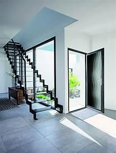 porte d39entree grand vitrage en verre feuillete a motifs With porte d entrée verre