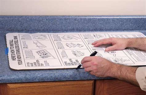 how to cut out a kitchen sink how to install a kitchen sink
