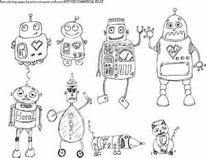 robots coloring page i created find the free printable With see a robot workout