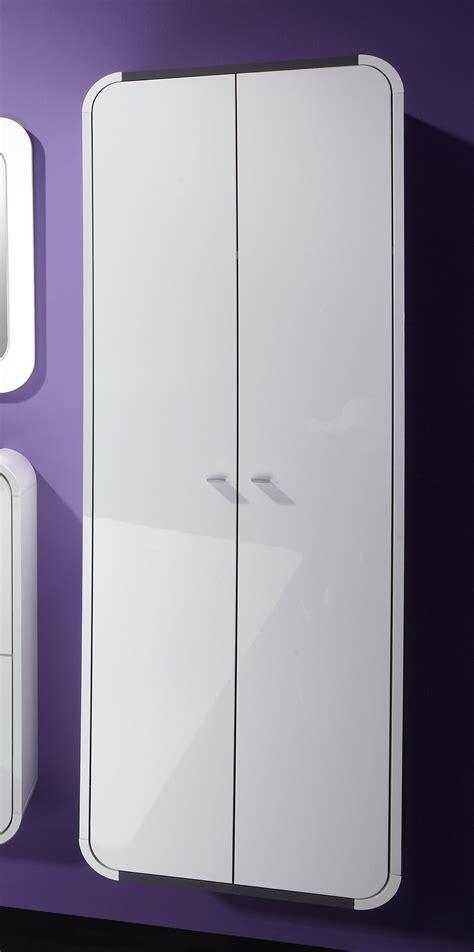 armoire suspendue d entr 233 e design 2 portes blanc laqu 233