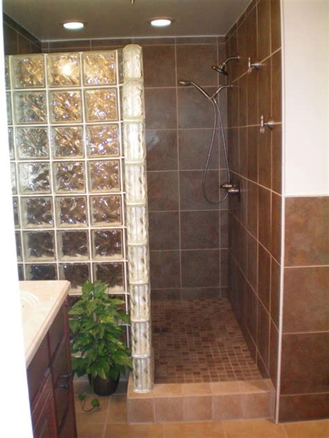 building a walk in shower enclosure with glass block