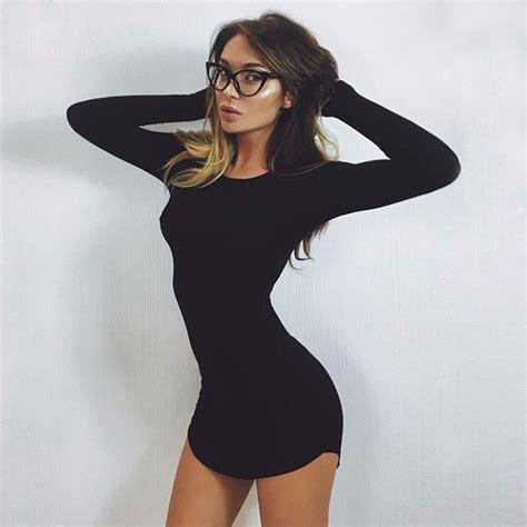 Women Hot Sale Autumn Mini Dresses Long Sleeve