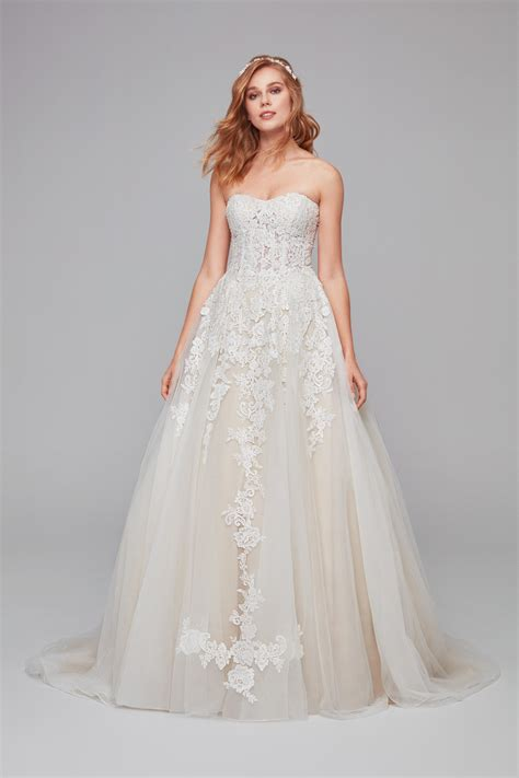 Sheer Lace And Tulle Ball Gown Wedding Dress Wg3861
