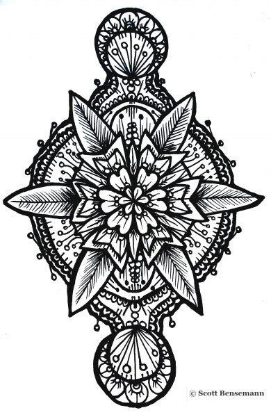 star flower geometric tattoo design idea