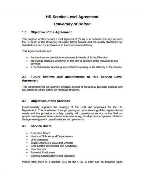 sla template 14 service level agreement templates free word pdf documents free premium templates