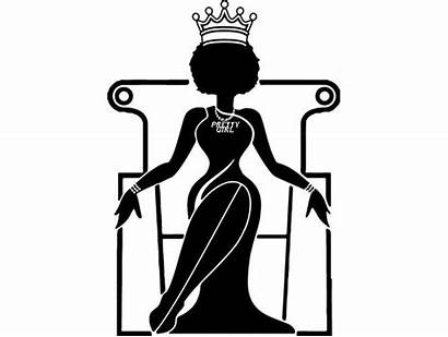 Silhouette Queen Afro African Svg Woman American