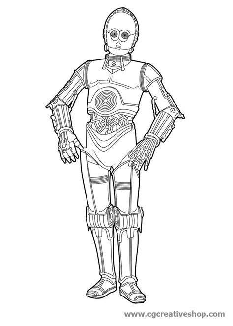 wars disegni da colorare robot c 3po guerre stellari disegno da colorare