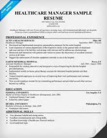 resumes for managers in healthcare hospital resume exles