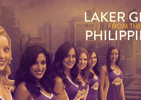 laker girls represent   philippines los angeles lakers