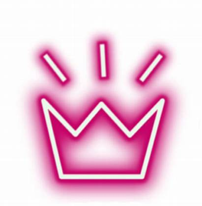 Transparent Neon Crown Aesthetic Background Clipart Flower