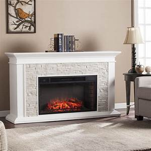 Shop, Harper, Blvd, Utley, White, Faux, Stone, Widescreen, Electric, Fireplace