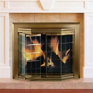 Pleasant, Hearth, Grandior, Bay, Medium, Bifold-style, Glass, Door, Fire, Screen, -, Antique, Brass