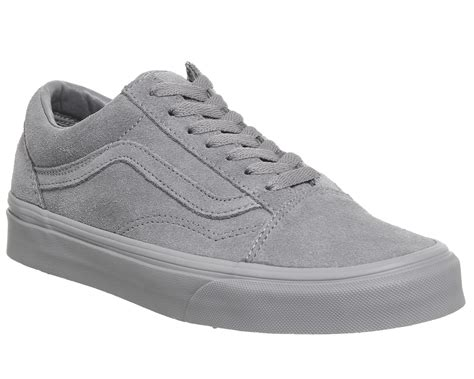 Vans Old Skool Trainers Frost Grey Suede Exclusive