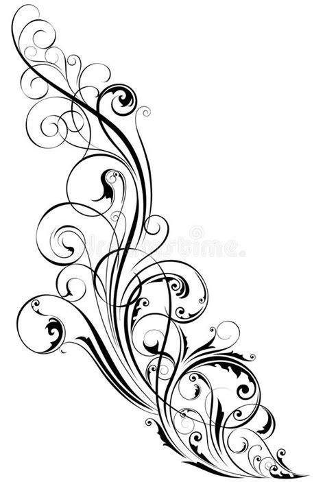 Swirl corner ornament stock illustration. Illustration of