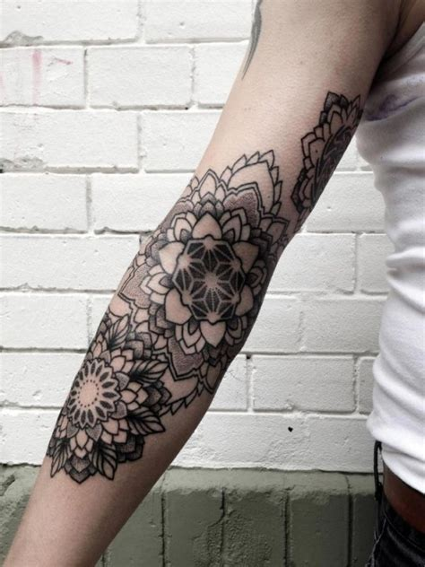 arm  awesome mandala tattoo placements
