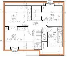 plan maison 100m2 pied en v gratuit plan de maison plein With beautiful agrandir sa maison prix 3 maison de plain pied de avec toiture 4 pans et 3 chambres