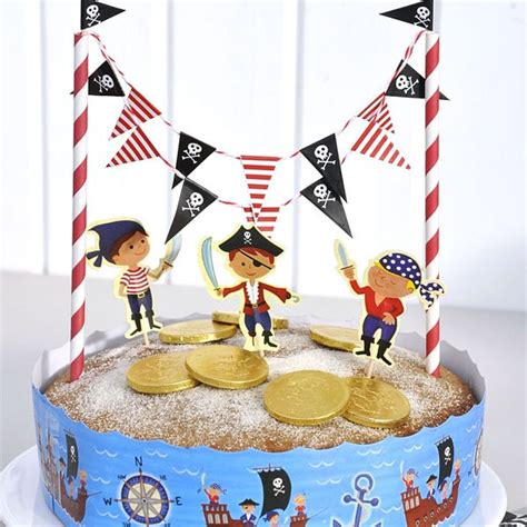 pirate cake bunting decorating kit pipii