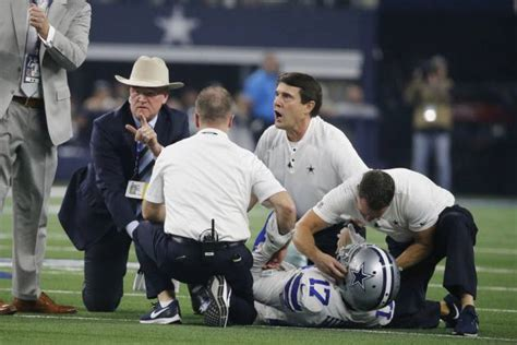 video allen hurns suffers brutal injury  dallas cowboys