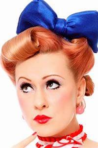 Coiffure Année 50 Pin Up : coiffure ann e 50 pin up ann es 50 pinterest coiffures red lips and the o 39 jays ~ Melissatoandfro.com Idées de Décoration