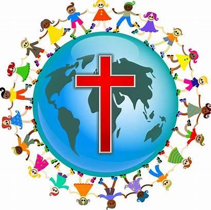 Children Christian Happy Around Universal Prayer Wish