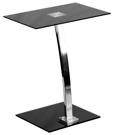 Tempered Glass Top Computer Desk by Silk Black Tempered Glass Top Laptop Computer Desk From