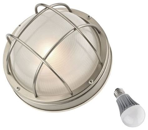bulkhead marine light with led bulb 10 inches wide